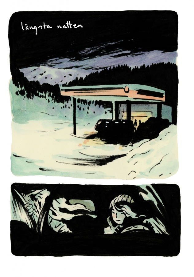 Longest night, 2014. Second place in the Nordicomics Competition, held by Oulu Comics Festival in Finland. Click to read!
